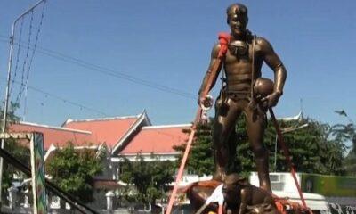 Saman Kunan's bronze statue arrives in Chiang Rai | The Thaiger