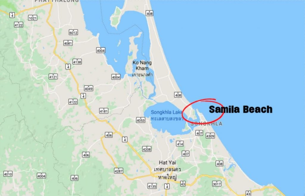 Three bombs found on a Songkhla beach after blasts damage famous mermaid statue | News by The Thaiger
