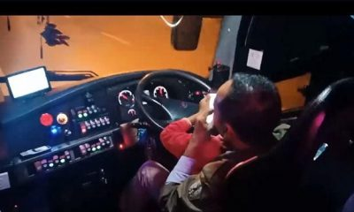 Calls for sacking of multi-tasking bus driver | The Thaiger