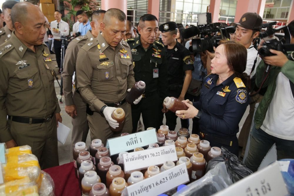 Two foreigners arrested over cannabis oil raid in BKK | The Thaiger