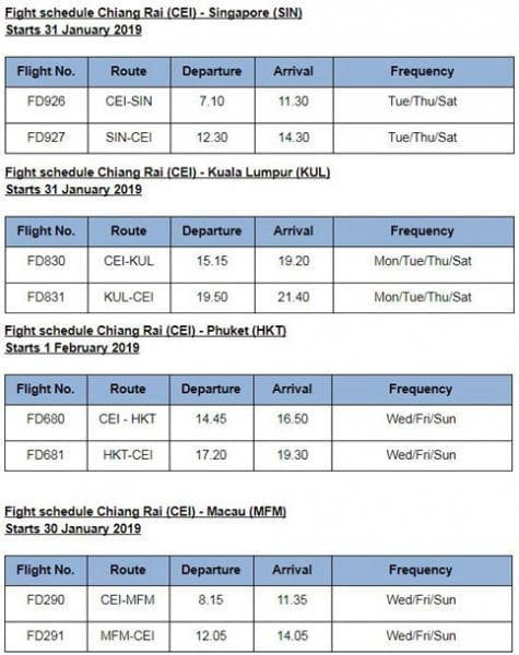 Thai AirAsia launches new direct flights out of Chiang Rai | News by The Thaiger