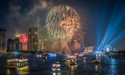 The Chao Phraya lights up for new years eve | The Thaiger