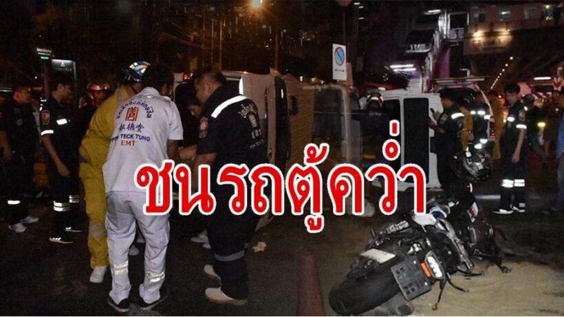 ชายต่างชาติซิ่งบิ๊กไบค์พุ่งชนรถตู้คว่ำ ตาย 2 ชาวญี่ปุ่นสาหัส 1   The Thaiger