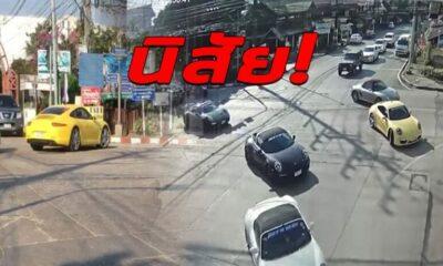 เปิดคลิป แก๊งรถหรูเมืองน่าน เย้ยกฏหมาย จอดขวางทาง ผ่าไฟแดง ตำรวจว่าไง? | The Thaiger