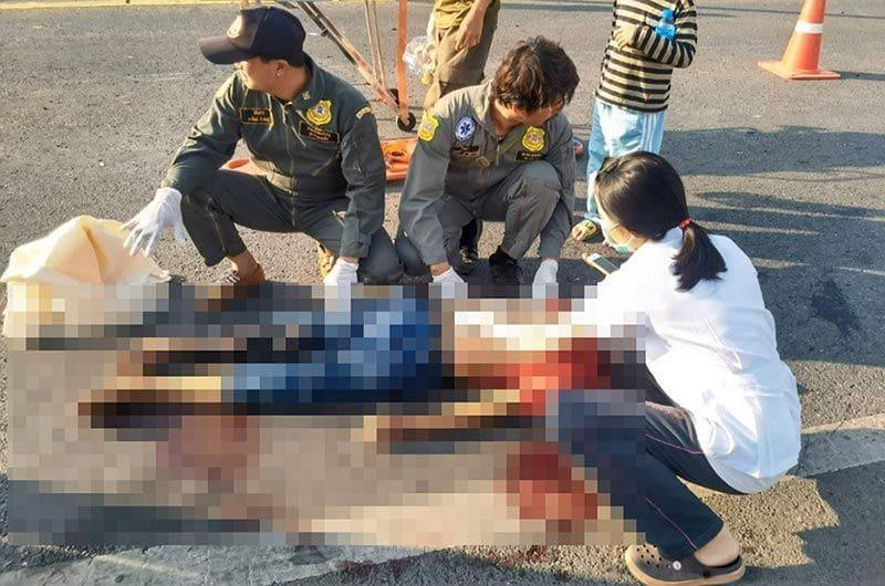 บิ๊กไบค์ซิ่งชนรถจักรยานยนต์ ตาเสียชีวิตสลด ยายนั่งมาด้วยบาดเจ็บสาหัส | The Thaiger