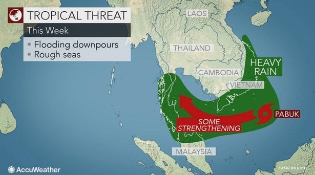 Tourists trapped as Storm Pabuk heads for Thailand's Koh Samui
