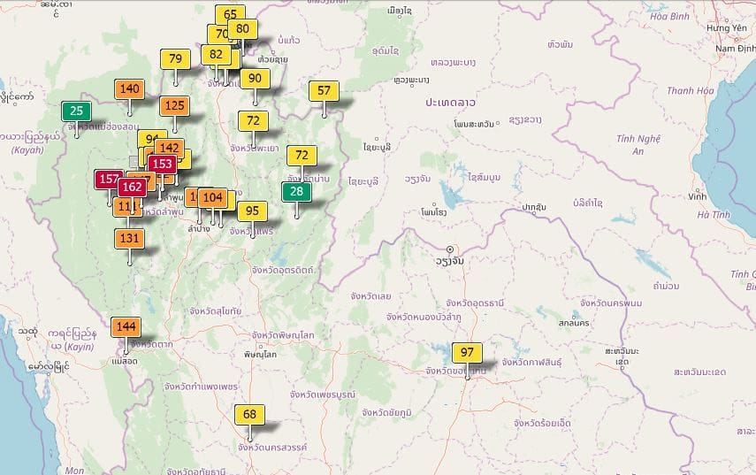 Air quality for Thailand - January 18 | News by The Thaiger