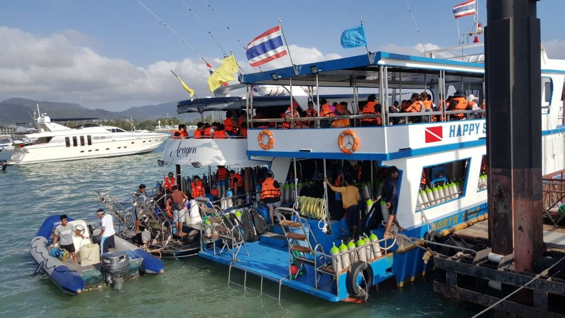 Tourists surge back to Chalong Pier and out to the islands | The Thaiger