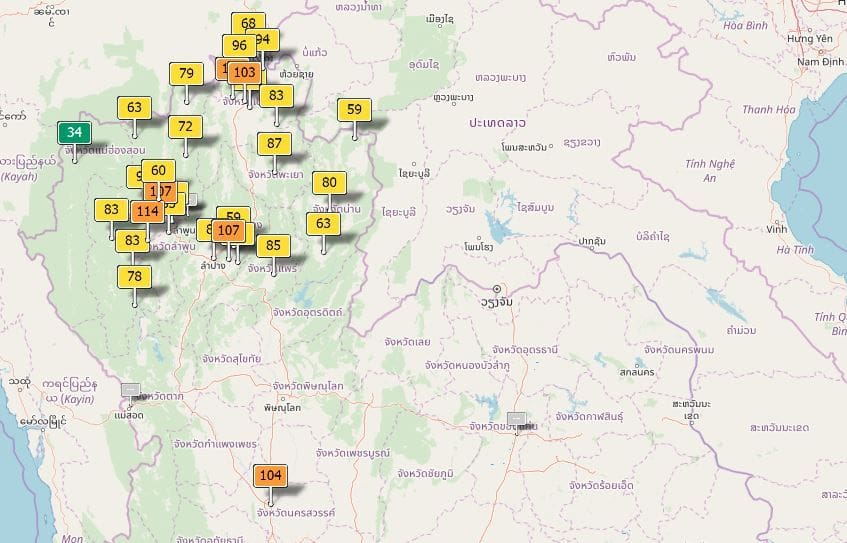 Air quality for Thailand – January 15   News by The Thaiger