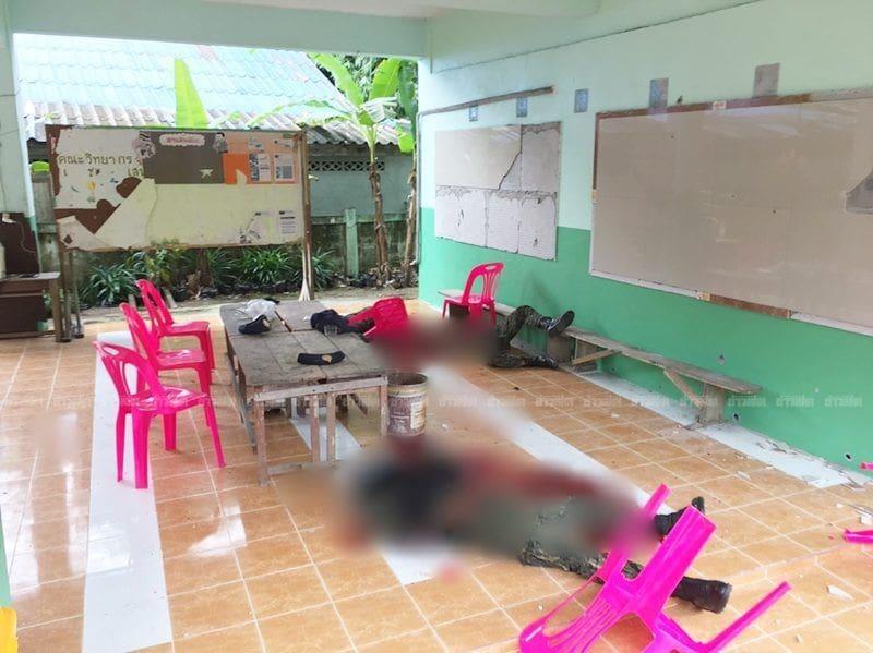 ไฟใต้ยังระอุ คนร้ายบุกยิงเจ้าหน้าที่คุ้มครองครูกลางโรงเรียน ในปัตตานี ดับ 4 ศพ | News by The Thaiger