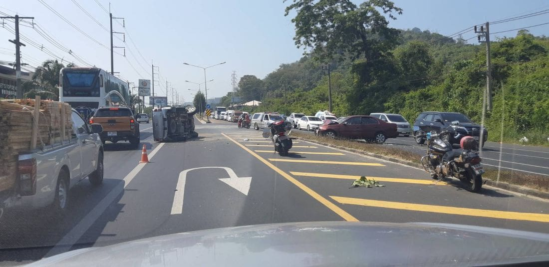 Car driver killed after colliding with pickup on Bypass Road | The Thaiger