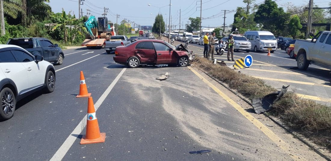 Car driver killed after colliding with pickup on Bypass Road | News by The Thaiger