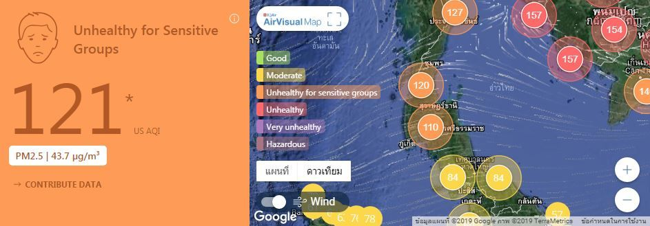 Air quality for Thailand – January 25 | News by Thaiger
