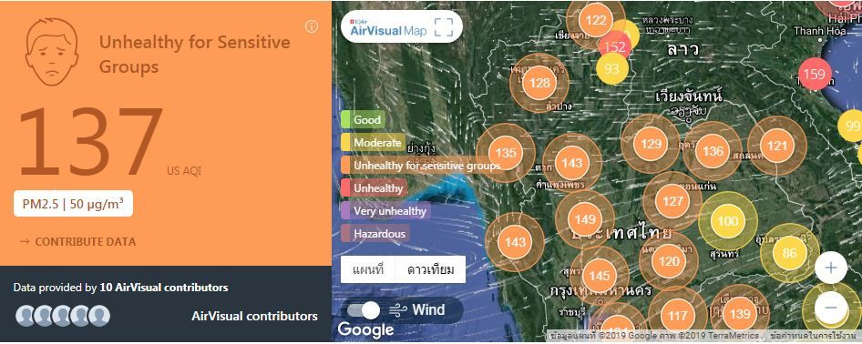 Air quality for Thailand – January 28 | News by The Thaiger
