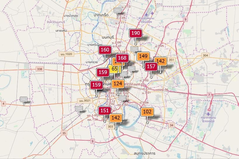 Air quality for Thailand - January 16 | News by The Thaiger