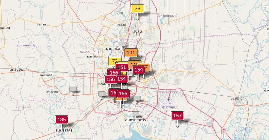 Air quality for Thailand - January 17 | News by Thaiger