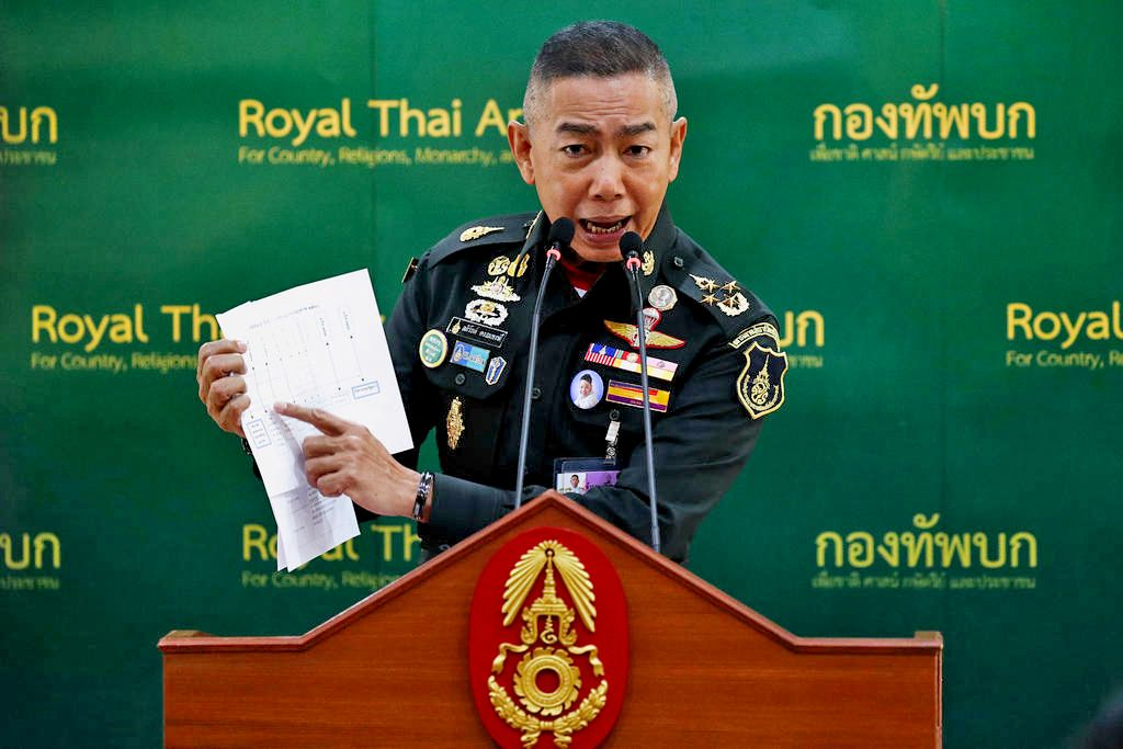 "Army chief claims election delay critics are ""bent on creating trouble"" 
