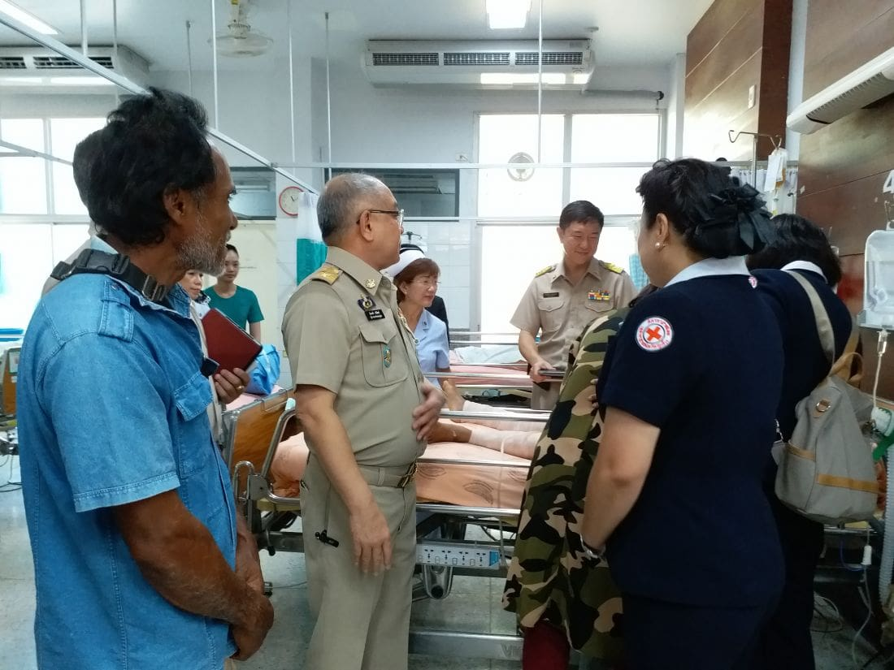 King Maha Vajiralongkorn supports boy attacked by dogs at Sarasin Bridge | The Thaiger