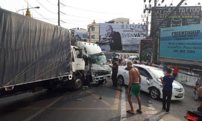 Truck crash on Patong Hill causes three hour traffic delays – VIDEO | The Thaiger