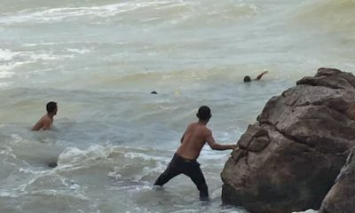 Brother and sister plucked from surf in Nakhon Si Thammarat – VIDEO | The Thaiger