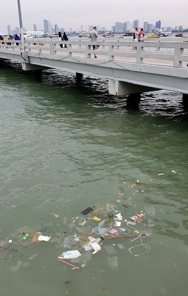 Pattaya boat pier surrounded by rubbish | News by The Thaiger