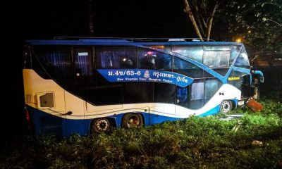 Driver charged in Chumphon tourbus accident | The Thaiger