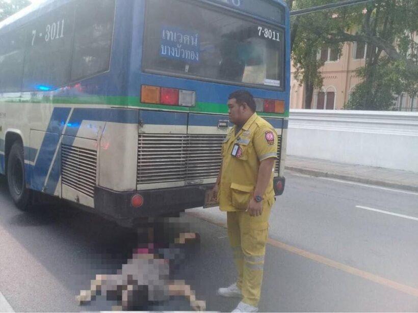 รถเมล์ปรับอากาศทับชาวต่างชาติดับหน้าวัดบวร อ้างจงใจตาย | News by The Thaiger