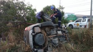 Woman badly injured in Rayong car accident | News by The Thaiger