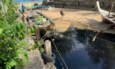 Wastewater from Bang Tao Canal flowing into sea | The Thaiger