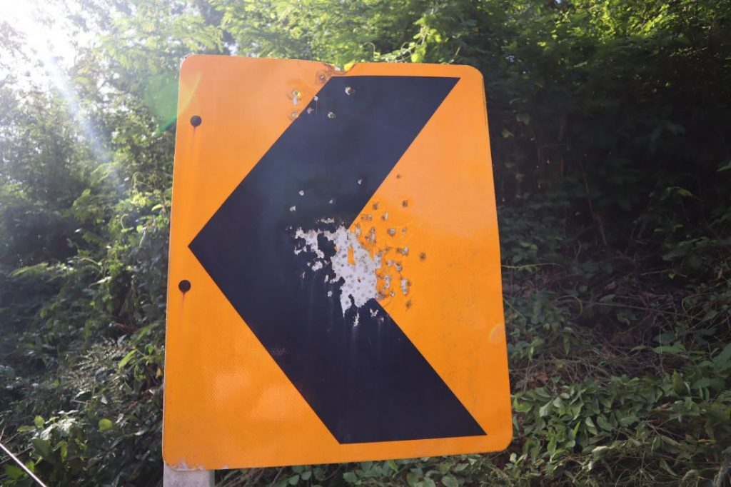 Police chasing people taking pot shots at road signs in Rawai | News by The Thaiger