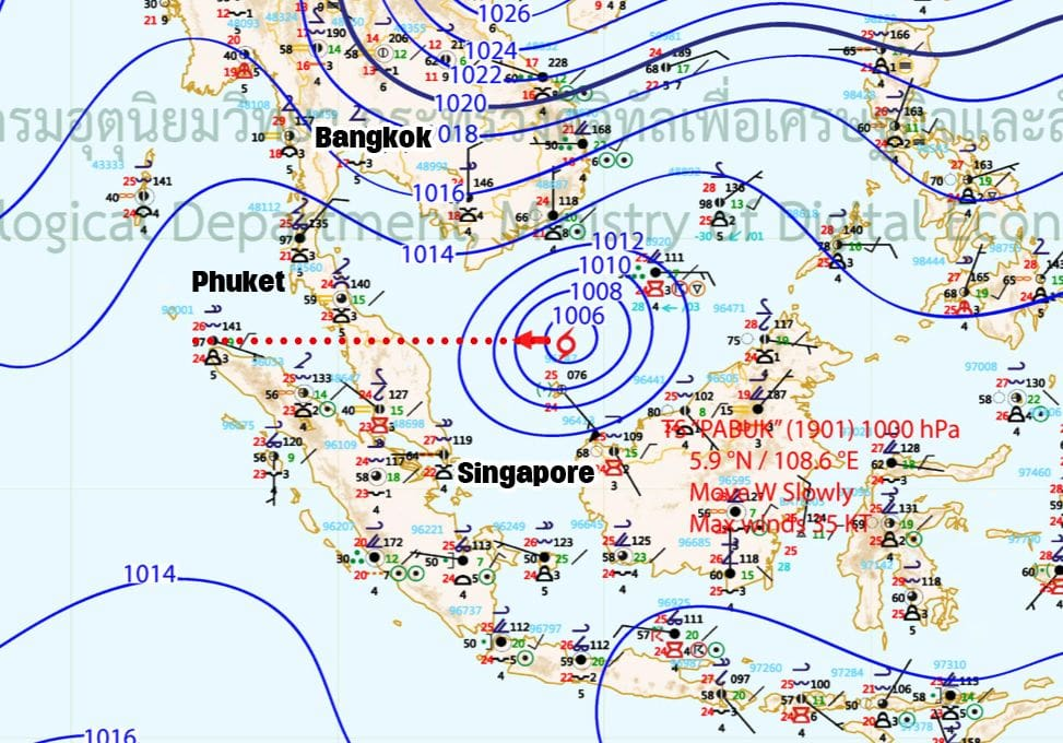 """""""Pabuk"""" heads towards southern provinces 