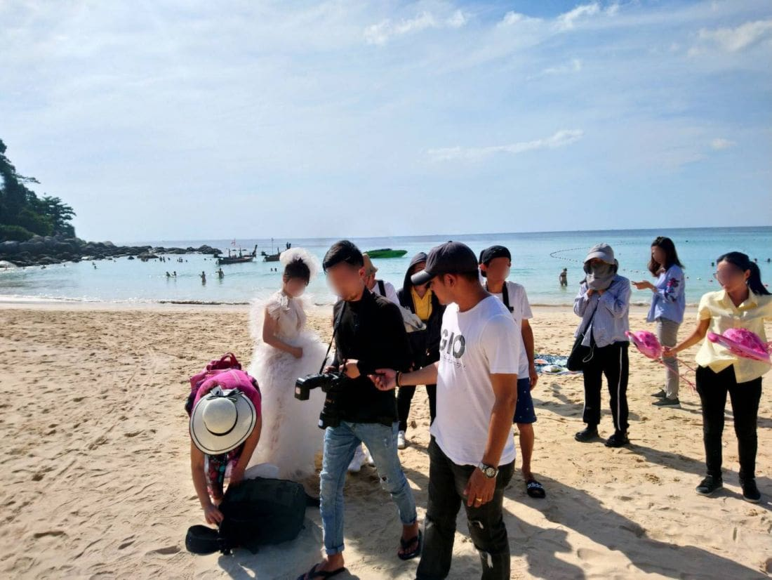 Seven arrested over illegal pre-wedding photo shoots in Phuket | The Thaiger