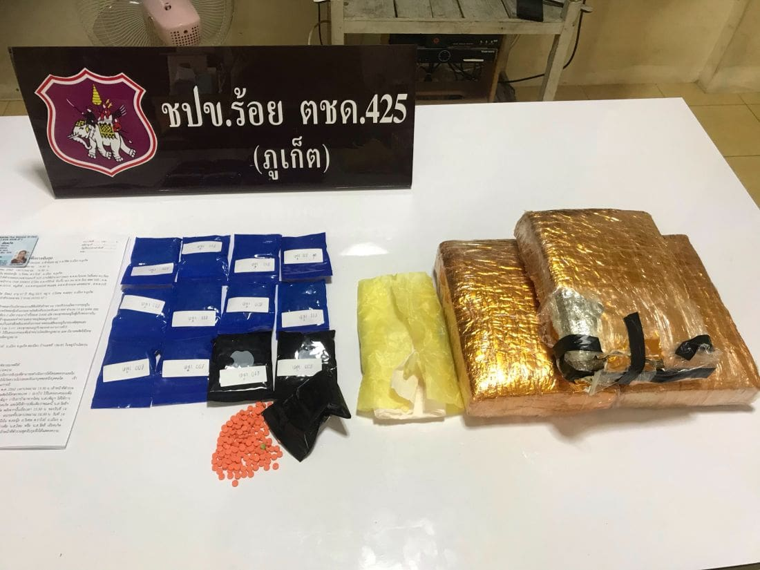 Phuket house keeper keeps 2,600 meth pills and 3kg of marijuana at house in Rawai | The Thaiger