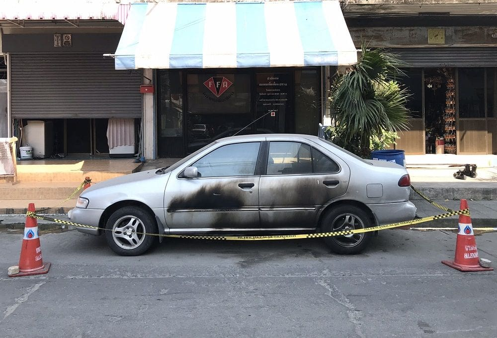 Car torching is 'under investigation' | News by Thaiger