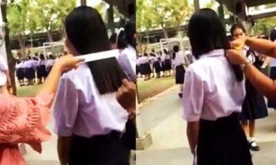 VIDEO: Thai netizens outraged as school makes student cut hair   The Thaiger