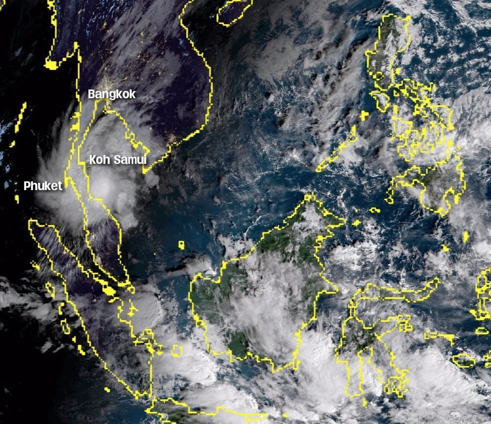 Pabuk: Friday awakes with the storm surging up the Gulf coastline | News by The Thaiger