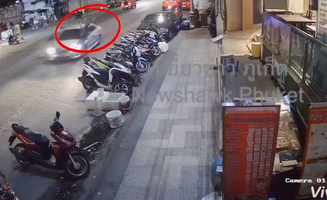 Police hunting for driver in hit and run – Patong | The Thaiger