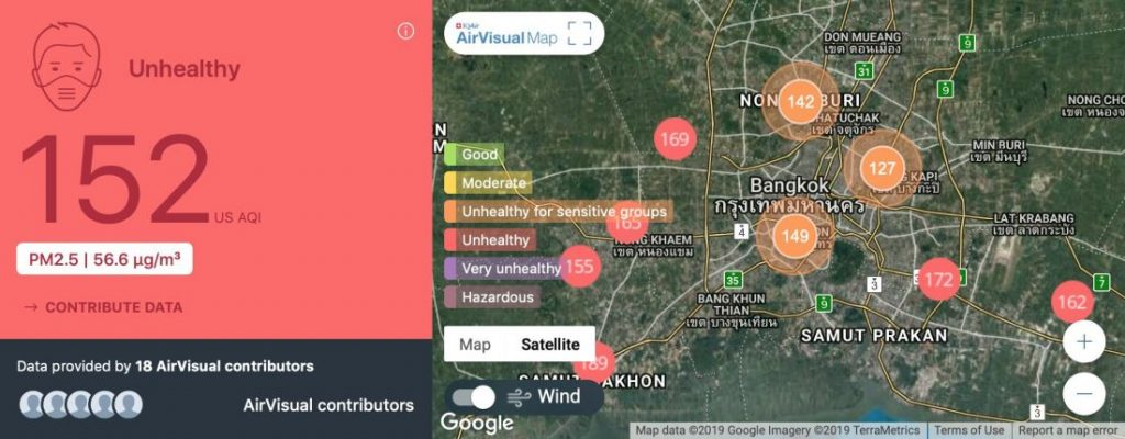 Bangkok smog: Sunday awakes to another day of 'unhealthy' air in the capital   News by Thaiger