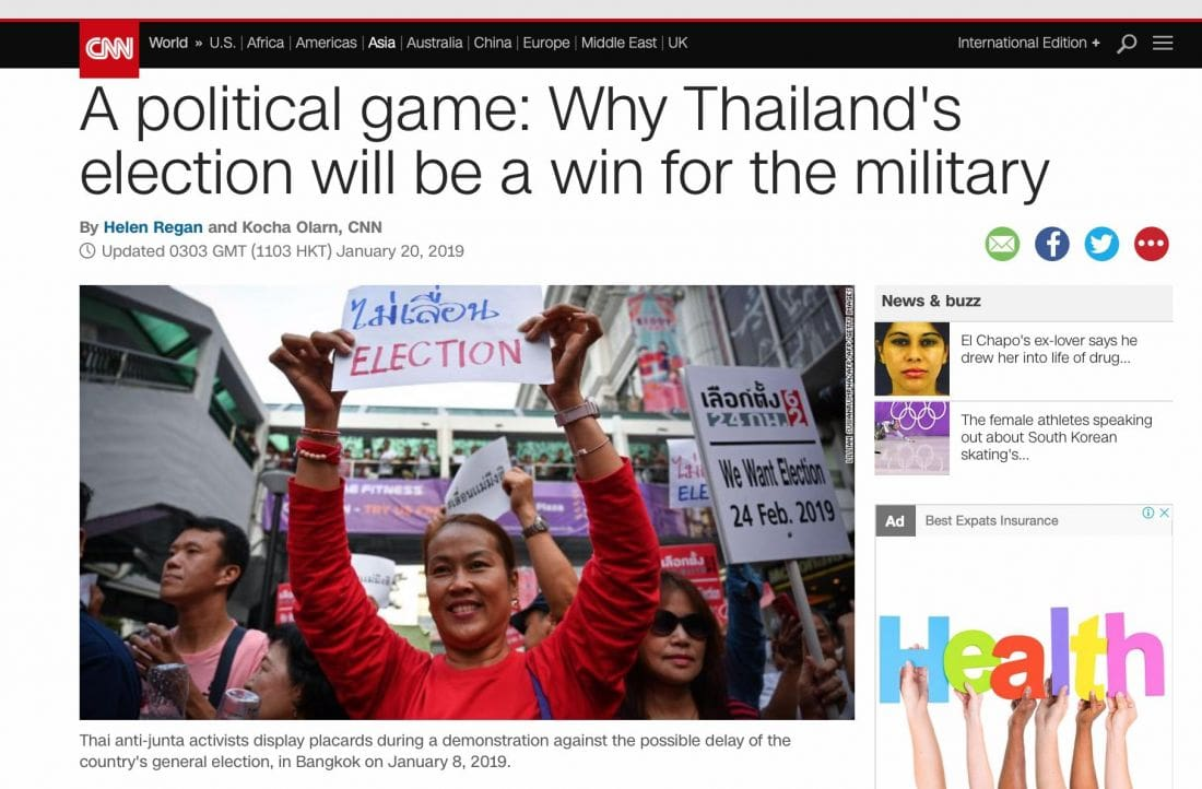Why Thailand's election will be a win for the military – International coverage | The Thaiger