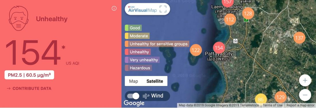 Pattaya air quality suffering as well | News by The Thaiger