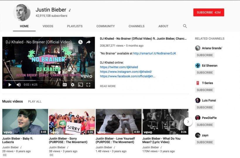 รวม 5 อันดับ ช่อง YouTube ที่มีคนกดติดตามมากที่สุดในโลก   News by The Thaiger