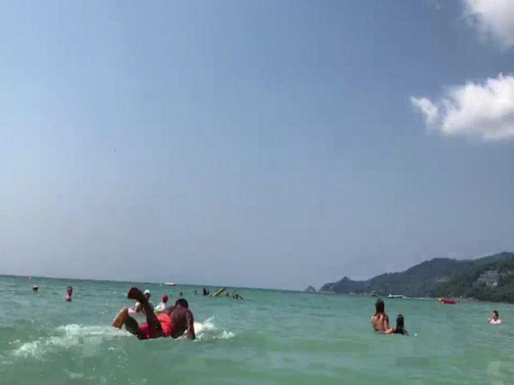 77 year old Swedish tourist rescued at Patong Beach - VIDEO | News by The Thaiger