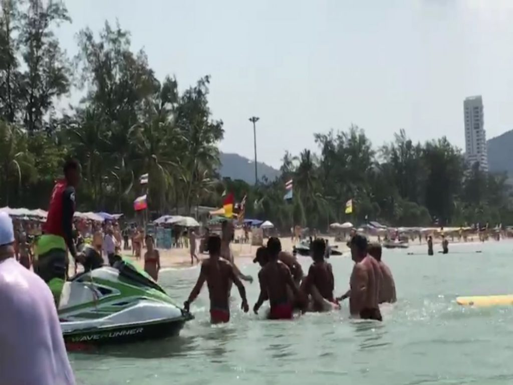 77 year old Swedish tourist rescued at Patong Beach - VIDEO | News by Thaiger