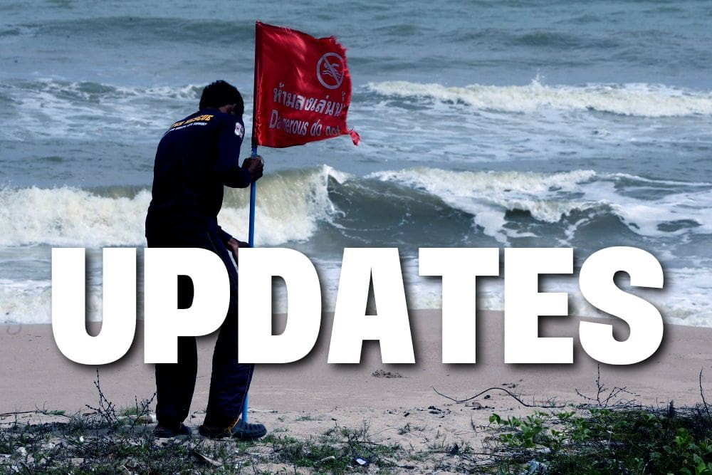 Pabuk: Regular updates throughout today following the storm up the coast | The Thaiger