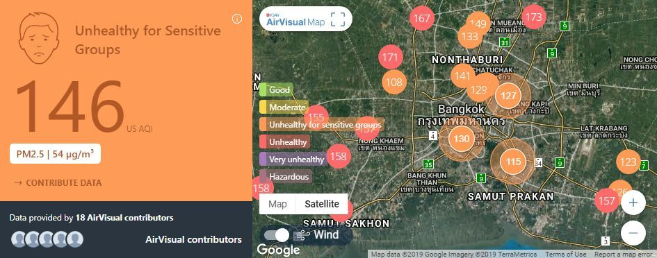 Air quality for Thailand – February 1 | News by The Thaiger