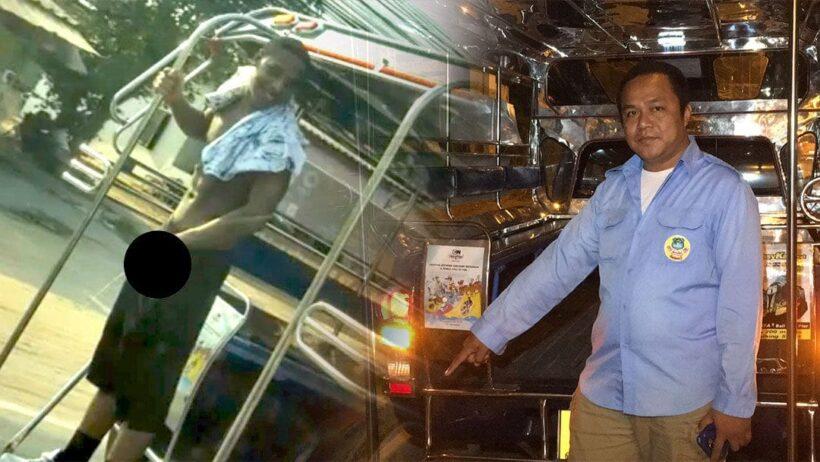 นักท่องเที่ยวพัทยาล้วง 'อานาคอนด้า' โชว์ฉี่ใส่ถนนบนรถสองแถว | The Thaiger