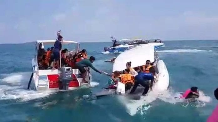 23 Chinese tourists rescued off sinking boat at Koh Samet | News by The Thaiger