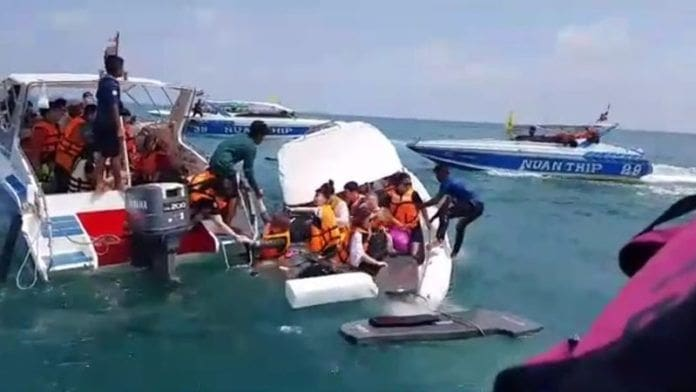 23 Chinese tourists rescued off sinking boat at Koh Samet | The Thaiger