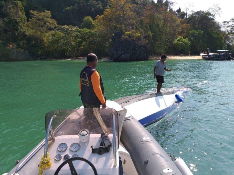 Capsized speedboat found in Krabi | The Thaiger
