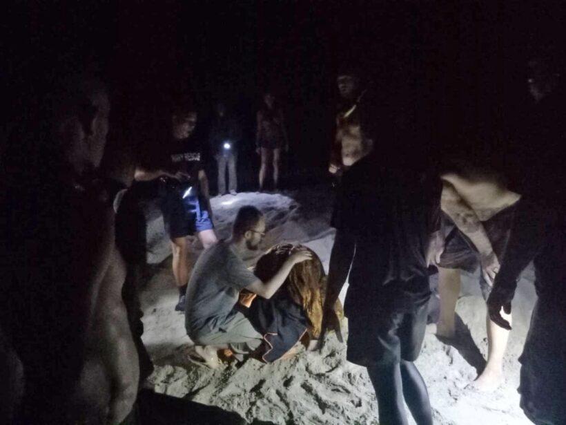 นาทีชีวิต สาวรัสเซียหวิดดับ ลงเล่นน้ำทะเลเกาะลันตา | The Thaiger